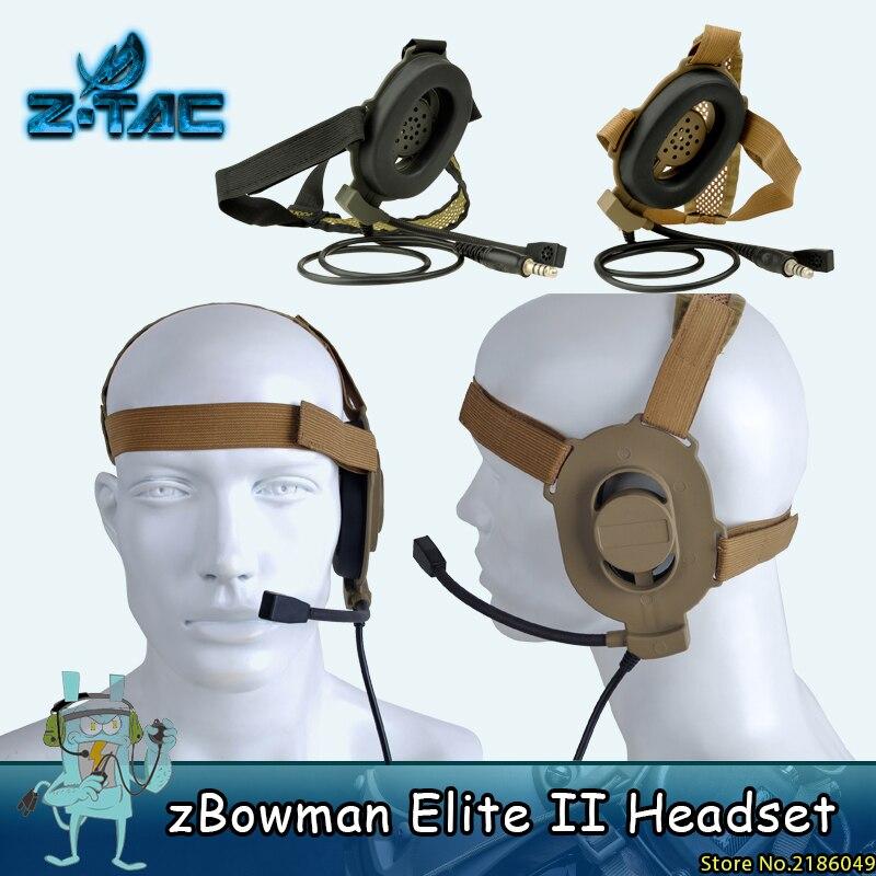Z-TAC bowman üçün Z taktiki Bowman Elite II qulaqlıq Bir tərəfli qulaqlıq Airsoft Aksesuarlar Z027