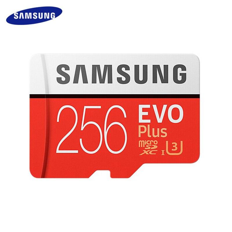 SAMSUNG EVO + Cartão de Memória de Classe Cartão Micro SD 256 gb gb 64 32 gb SDHC SDXC de 128 gb Classe 10 C10 UHS Cartão TF Trans Flash Microsd