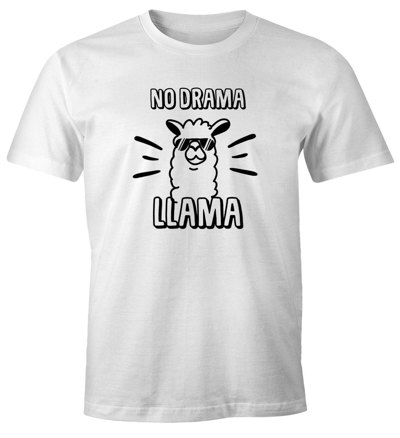 buy popular 7f9a1 445a2 US $11.04 15% OFF|Herren T Shirt No drama Llama Lama Spruch Spruche Quote  Fun Shirt Moonworks Hip Hop Novelty T Shirts Men'S Brand Clothing 2018-in  ...