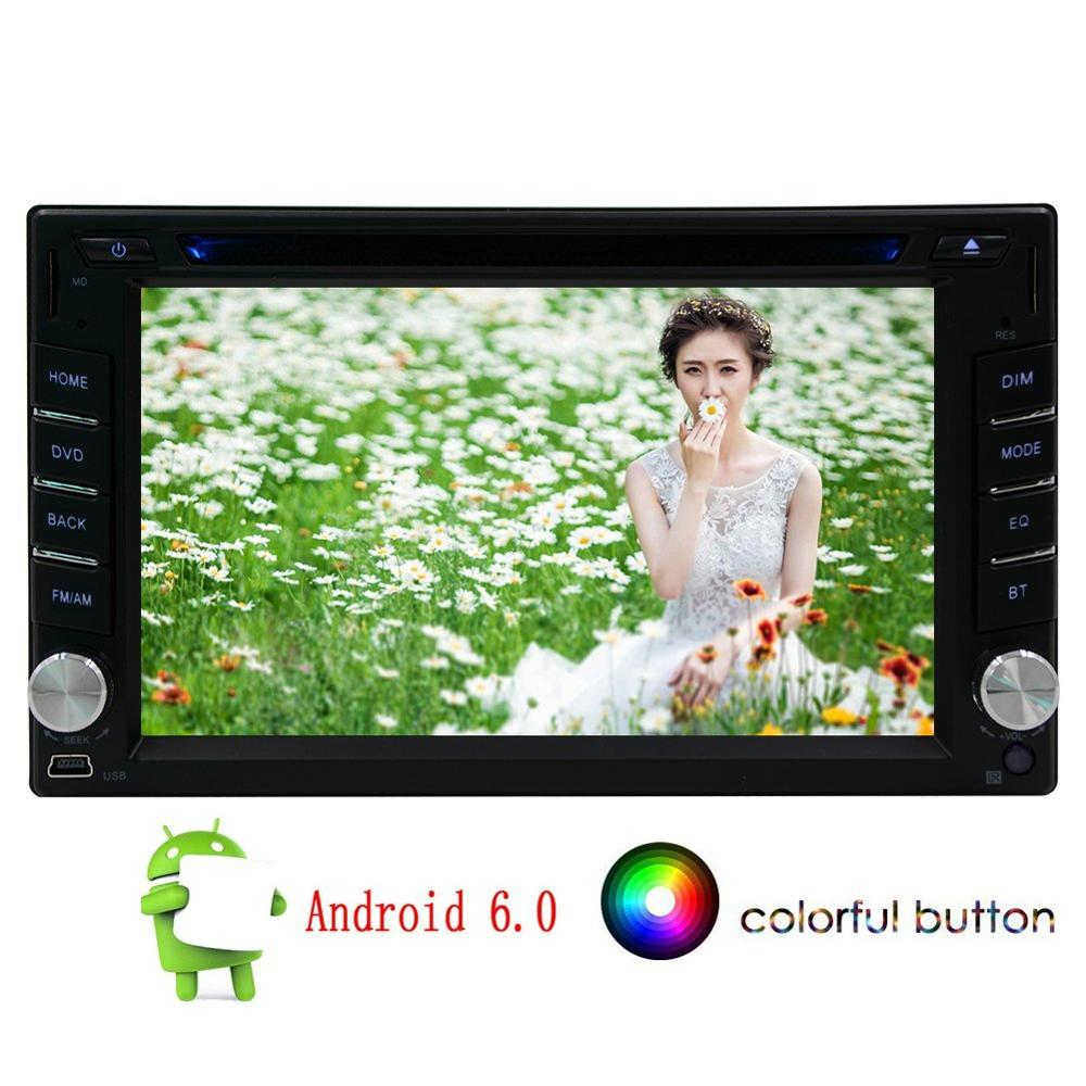 Quad Core Android 6.0 Auto Car Radio Stereo Double 2Din Head Unit with 6.2 inch Support GPS Navigation SWC WIFI 4G 3G DVR CAM IN
