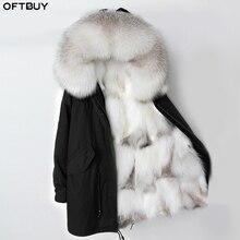 Oftbuy 2020 Lange Parka Winter Jas Vrouwen Real Fox Bontkraag Hood Natuurlijke Vossenbont Liner Bovenkleding Afneembare Streetwear Merk