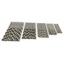 50pcs/Set Twist Drill Bit Set HSS High Stainless Steel Drill Woodworking Wood Tool 0.5/0.8/1.0/1.2/1.5mm For Metal PCB Woodwork