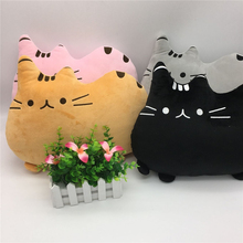 Cartoon Soft Pusheen Cat Shape Cushion 40*30cm 4pc/set Plush Toys Kawaii Cats Cute Stuffed Animal Plush Toy Gift Children Pillow