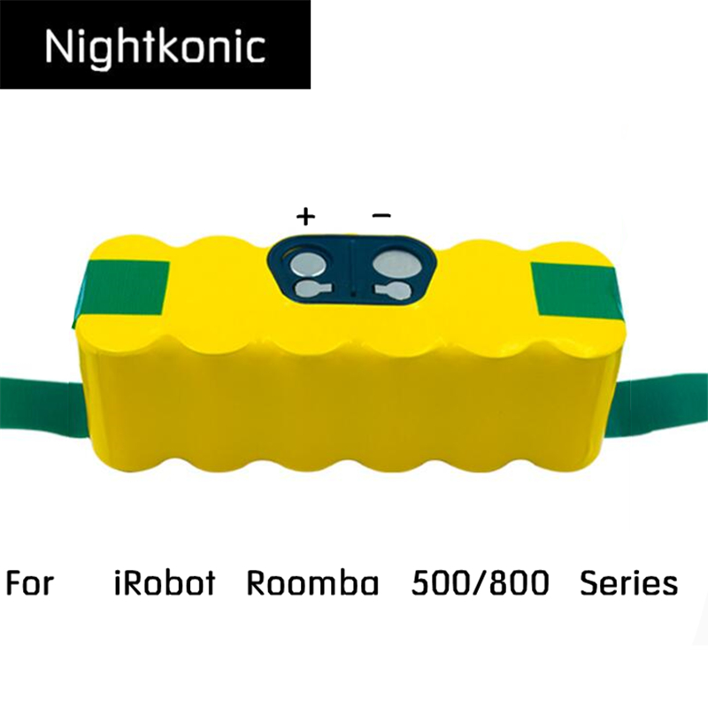 Nightkonic 14.4V NI-MH 4900mAh Rechargeable Battery pack For iRobot Roomba 500 600 700 800 Series Vacuum Cleaner bristle brush flexible beater brush fit for irobot roomba 500 600 700 series 550 650 660 760 770 780 790 vacuum cleaner parts