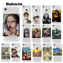 лучшая цена Yinuoda Art Paintings The Birth Of Venus Phone Case For iPhone 7 8 6 6s Plus 5 5S SE Mona Lisa Van Gogh For iPhone XS MAX XR