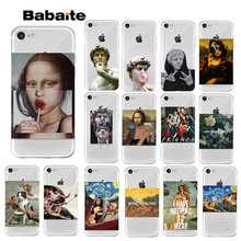 Funda para iPhone 7 8 6 6 6s Plus 5 5S SE Mona Lisa Van Gogh para iPhone XS MAX XR(China)