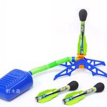 2016 Niños de Los Niños Al Aire Libre Juguetes de Vacaciones Deporte Divertido Jugar Zing Zoom Rocketz BURBUJA Lanzador de COHETES Conjunto Salto Jet Llenador de la media juguete