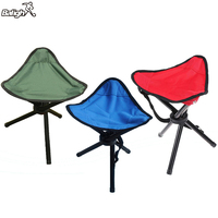 Balight Camping Tripod Stool Available Outdoor Folding Portable Tri Leg Stool For Outdoor Camping Fishing Mountaineering