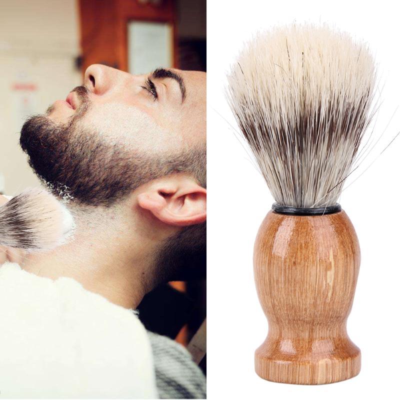 Badger Hair Men's Shaving Brush  Salon Facial Beard Cleaning Shave Tool Razor Brush Nylon And Badger Hair Shaving Brush
