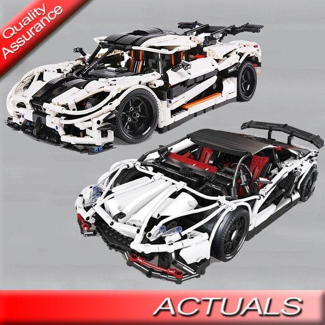 Koenigsegg One 1 >> Us 80 75 5 Off Lepin 23002 23006 Yile Teknik Series Koenigsegg One 1 Blok Bangunan Model Mobil Batu Bata Mainan Hadiah Kompatibel Dengan Lego Moc