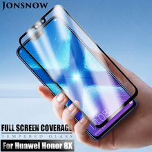 JONSNOW Tempered Glass on For Huawei Honor 8X Screen Protector for Max Anti-knock Full Cover Protective