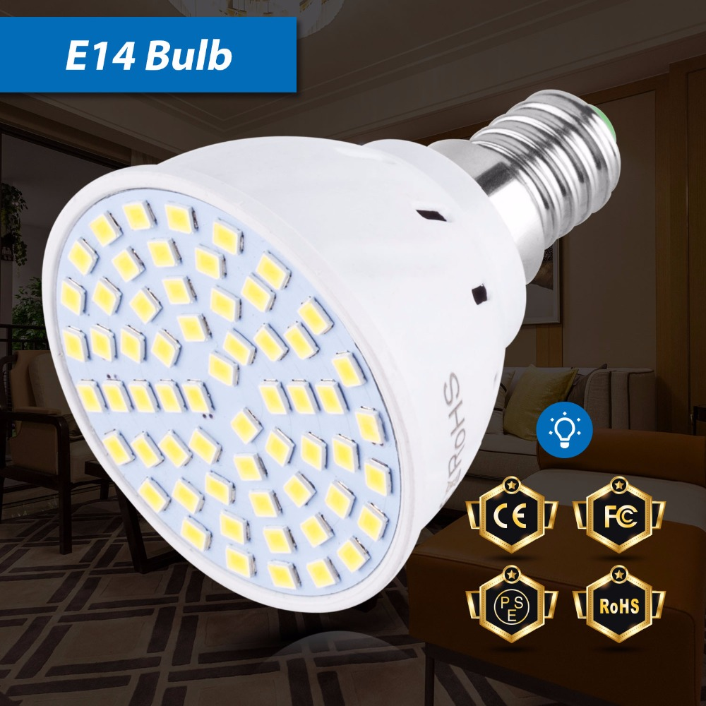 E27 Led Spotlight Bulb Led E14 Lamp 220V Bombilla GU10 4W 6W 8W Spot Light MR16 Ampoule 240V 2835 GU5.3 Lampada B22 48 60 80LEDs