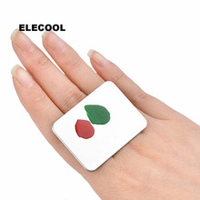 ELECOOL 1Pc Stainless Steel Cosmetic Makeup Palette ring Rec