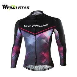 Weimostar męskie oddychające koszulki rowerowe z długim rękawem Top koszulka rowerowa S-4XL