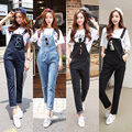 Spring Autumn Denim Jumpsuits Women Harem Jumpsuit Pants Ladies Loose Jeans Rompers Female Suspenders Big Size XXL XXXL