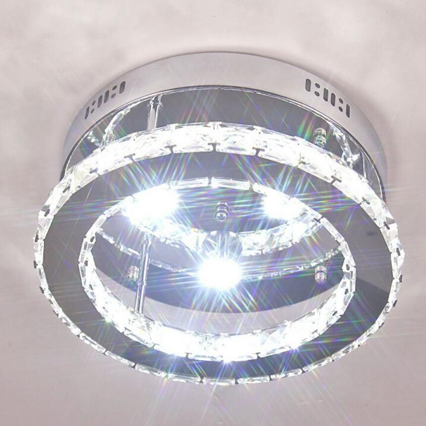 Us 33 58 Off Modern Round Crystal Ceiling Lamp High Quality Led Lamps Bright Lighting Fixtures Re Z50 In