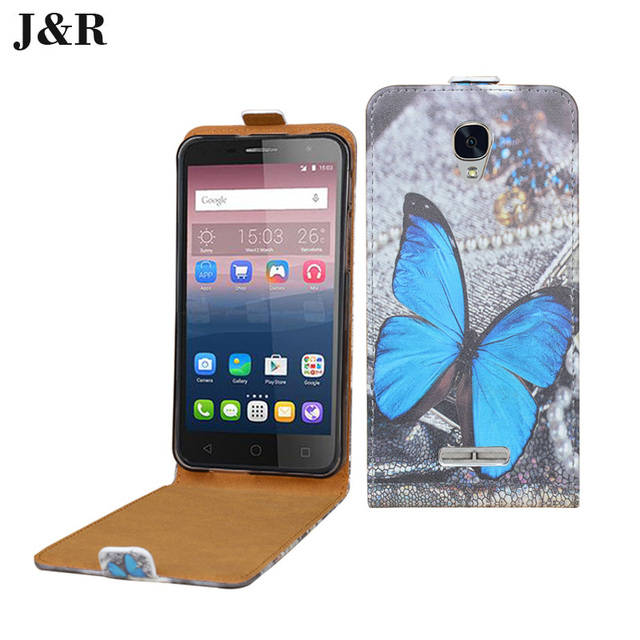 first rate db24e 648fc US $4.99 |Cartoon Printed PU Leather Cover For Alcatel One Touch Pop 4 Plus  Flip Cover Case For Alcatel POP 4 Plus Bag J&R Protective-in Flip Cases ...