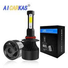 AICARKAS S2 4-Side COB LED Headlight Bulbs H4 H13 9004/HB1 9007/HB3 36W 6000LM Turbo H7 H11 9005 HB3 9006 HB4 Car