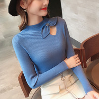 Han edition cultivate one's morality of new fund of 2018 autumn winter coat sweater female render shirt long sleeve knit