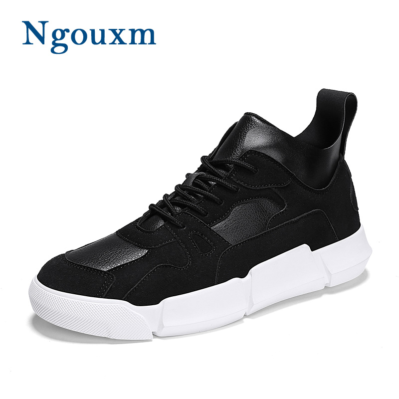 Ngouxm Sneakers Men Spring Autumn Suede Leather New Fashion Men s Casual  Shoes Lace-Up Lightweight 0a0e7d16e92a