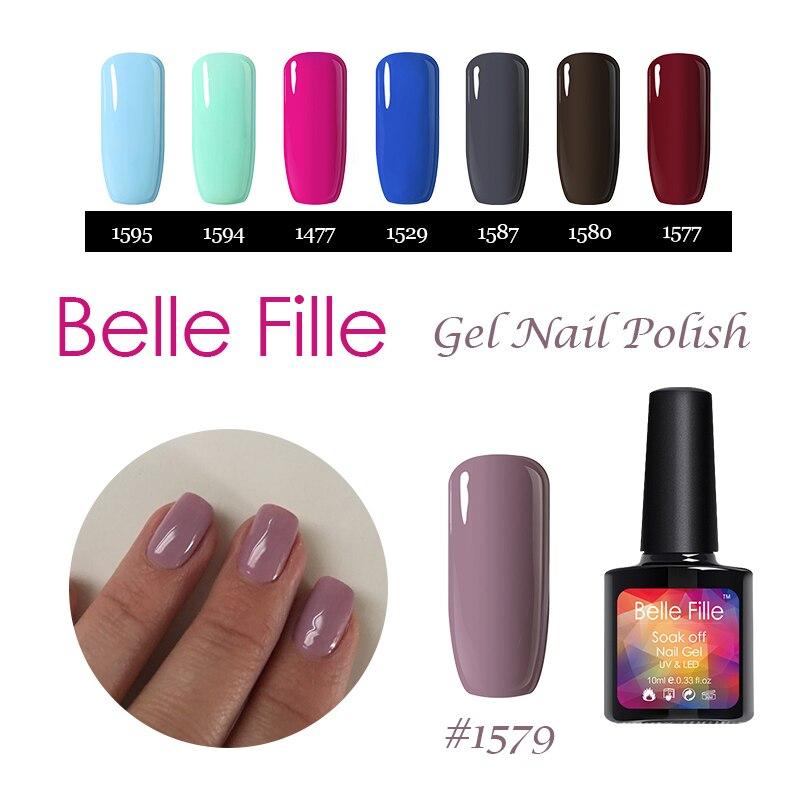 Belle Fille Pegajosa Bases Y Top Uv Uñas De Gel Glitter Gel