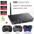X92 2 GB 3 GB/16 GB Android 6.0 Smart TV Caja Amlogic S912 Octa CPU Core Kodi 16.1 2.4/5.8G Wifi 4 K H.265 Decodificador PK X96 S905X