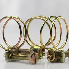 20 шт. хомут для шланга для автомобиля хомут для выхлопной трубы, зажимы для шланга, регулируемый двойной провод, вода для автомобиля, выхлопная труба для шланга, зажим для трубы, обруч