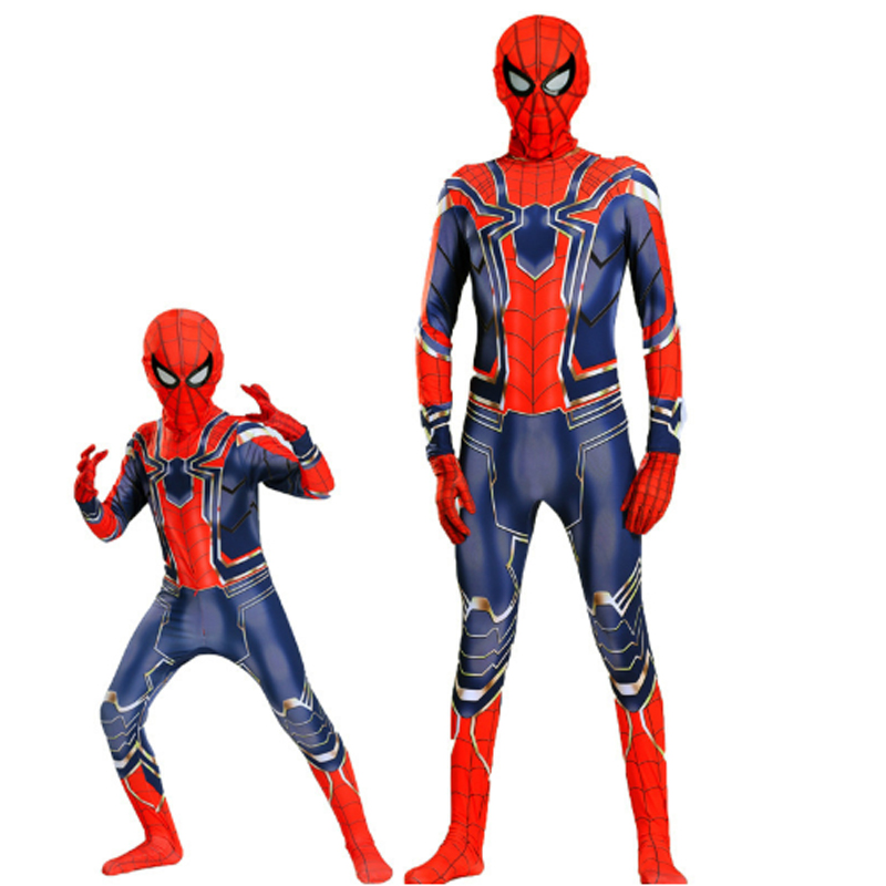 Halloween costume for children Spiderman Amazing Spiderman Iron Spiderman costume children's adult costume cosplay kids superher