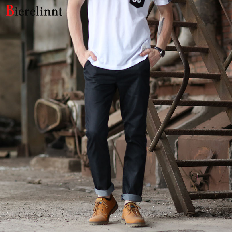 European&America Style Black lightweight Elastic Hot Sale Casual Slim 2018 Summer New Arrival Good Quality Pants for Men,172076