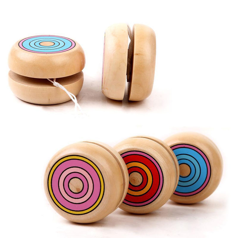 Yoyos Open-Minded 1pcs Yoyo Wooden Toys 4.5cm Yo-yo Classic Toys Wooden Yo-yo Ball Spin Professional Classic Toys For Child Gift G0003 High Standard In Quality And Hygiene