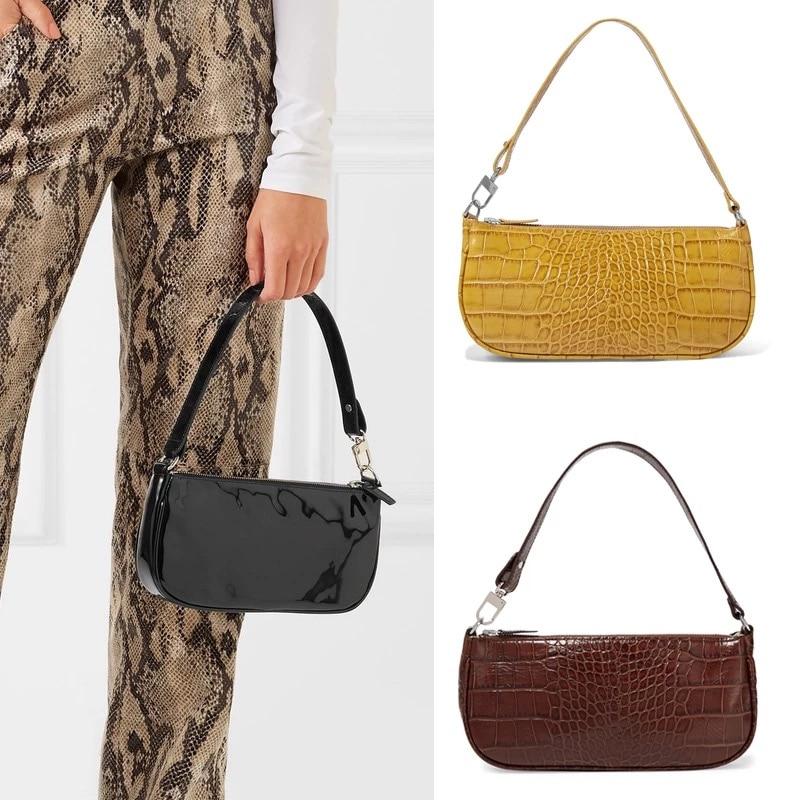 2019 Women Crocodile Bolsas Bag Designer Handbags Ladies Fashion Patent Leather Handbags Casual Messenger Retro Tote Bags