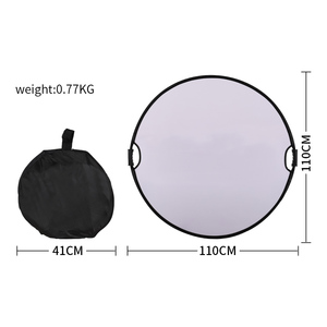 Image 3 - 43 110cm 5 in 1 taşınabilir katlanabilir yuvarlak el ışık reflektörü, flaş aksesuarları fotoğraf stüdyosu için taşıma çantası ile