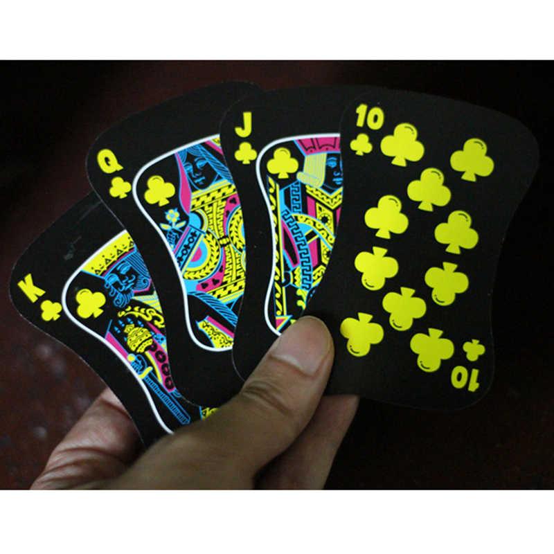 54 بطاقات أحدث مضيئة اللعب بطاقات مجلس لعبة هدية مضان شريط ملهى ليلي ليالي بوكر بارد ليلة ووتش بطاقات بوكر