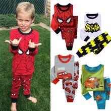 Kids Boys Clothes Long Sleeve Sport Casual Car Printed Sets Sleepwear P
