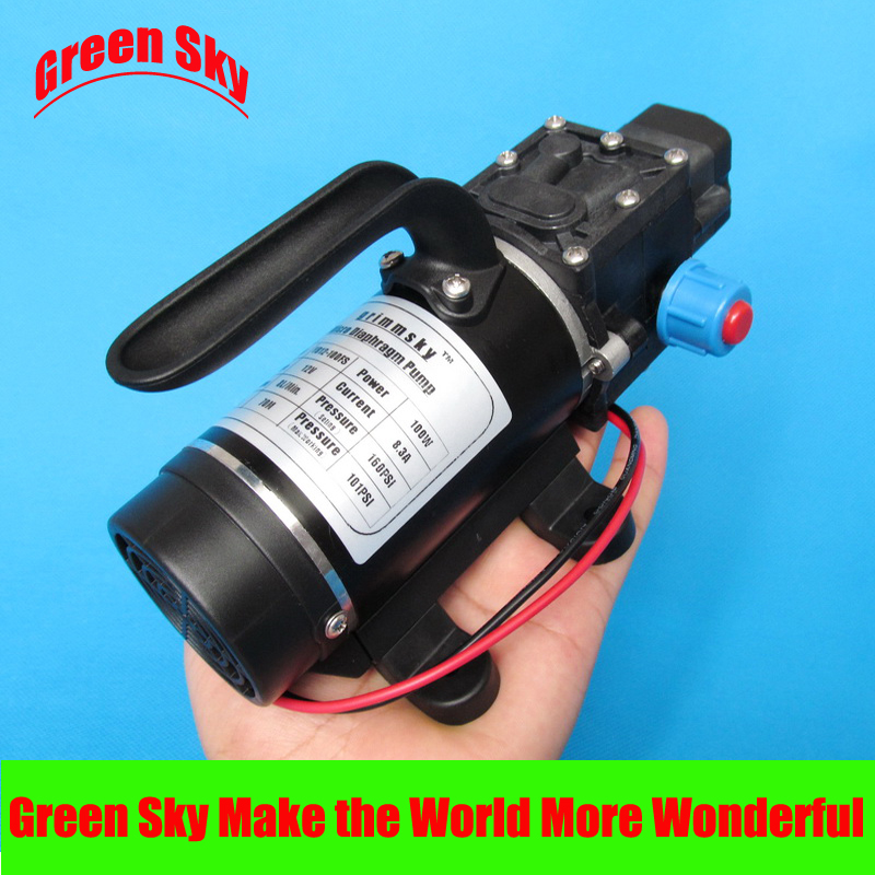 New Arrival automatic pressure switch type with handle and cooling fan 8L/Min 100W DC 12V micro diaphragm pump delta 12038 12v cooling fan afb1212ehe afb1212he afb1212hhe afb1212le afb1212she afb1212vhe afb1212me