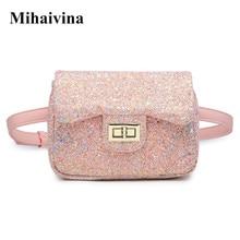 Mihaivina Glitter Womens Waist Bag Pink Fanny Pack Belt Bag Fashion Feamle Shoulder Satchel Bum Bags Pouch Hip Purse Waist Pack