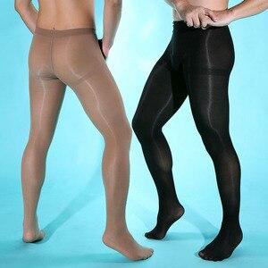 Image 1 - Lingerie Sexy pour hommes, haute qualité, 80 Deniers, forme de collants épais (SW0858)