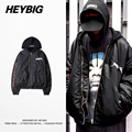 HEYBIG vetement Bomber Jacket 2016 Dec. New arrivals Men Darkness Hooded Windbreaker Fake 2 pieces high streetwear China's size