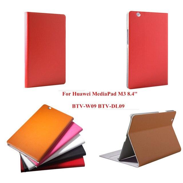 Роскошные Флип футляр Из Натуральной Кожи С Жесткого Plasic Назад Tablet Case для Huawei Mediapad M3 8.4 дюймов BTV-W09 BTV-DL09 Стенд Книга крышка