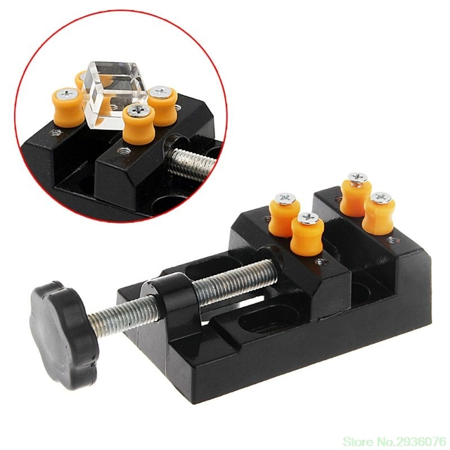 Mini carving bench clamp drill press vice hand micro clip flat diy