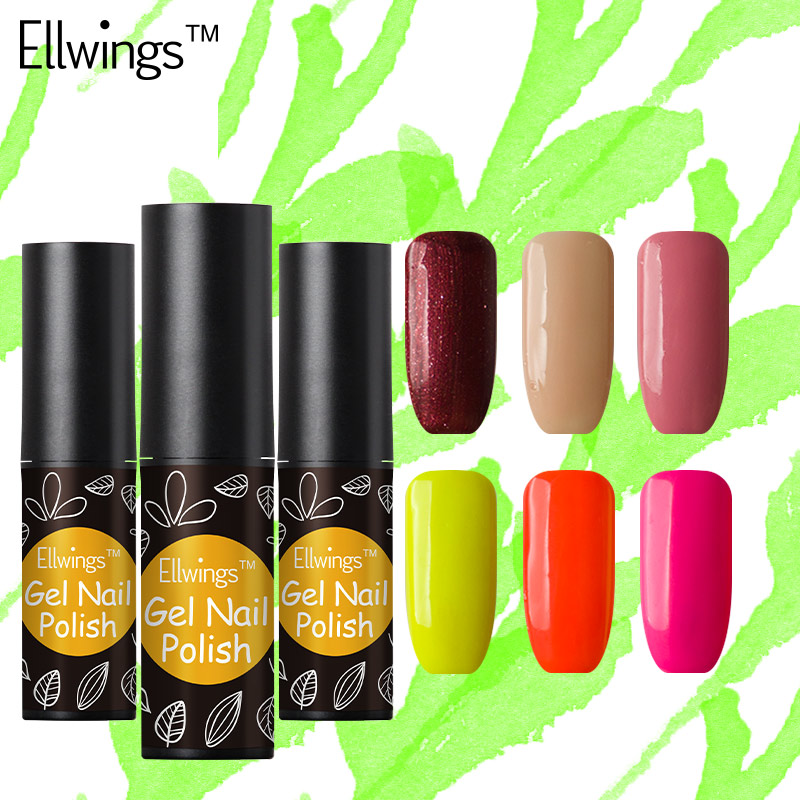 Ellwings 1pcs 29 Bright Colors Soak Off Nail Gel Vernis Professional Long Lasting Uv Varnish Semi Permanent Polish In From Beauty Health