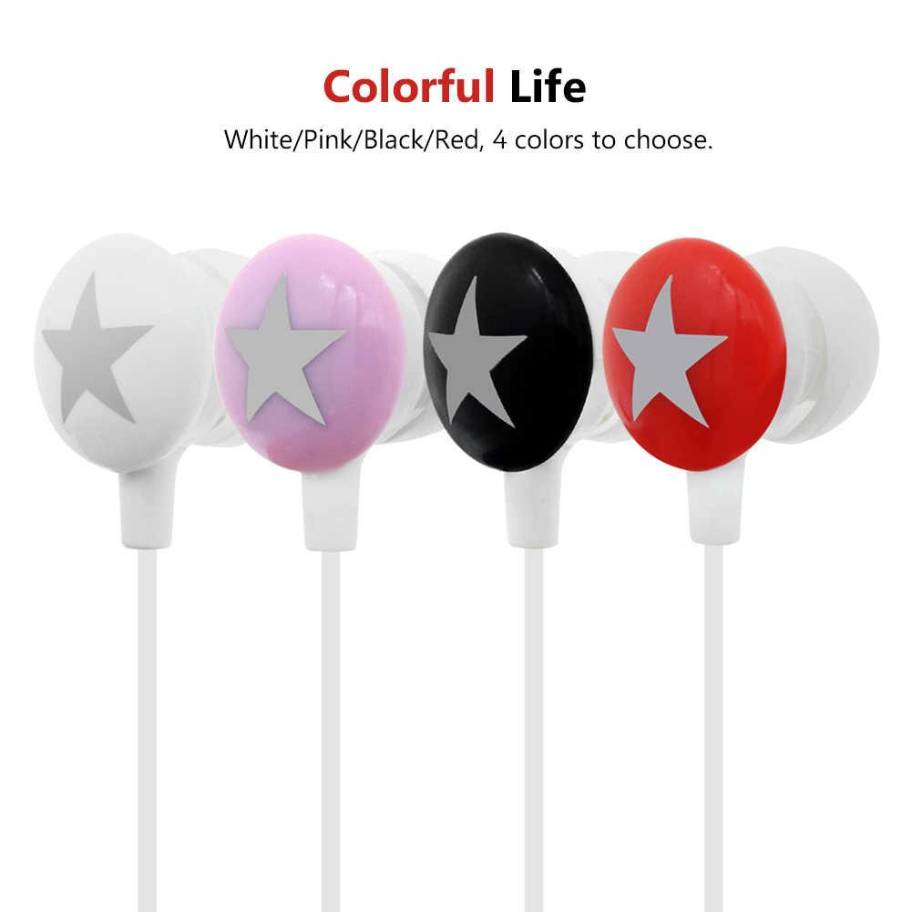 4 цвета универсальные 3,5 мм наушники-вкладыши звезда стерео наушники для iPhone 3g 3g S 4 4G 4S проводные наушники-вкладыши для смартфонов