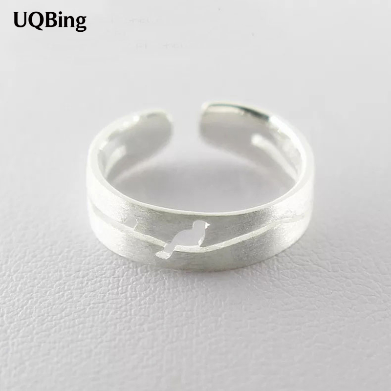 New Arrivals 925 Sterling Silver Hollow Bird Ring For Girl Women Gift Jewelry Free Shipping