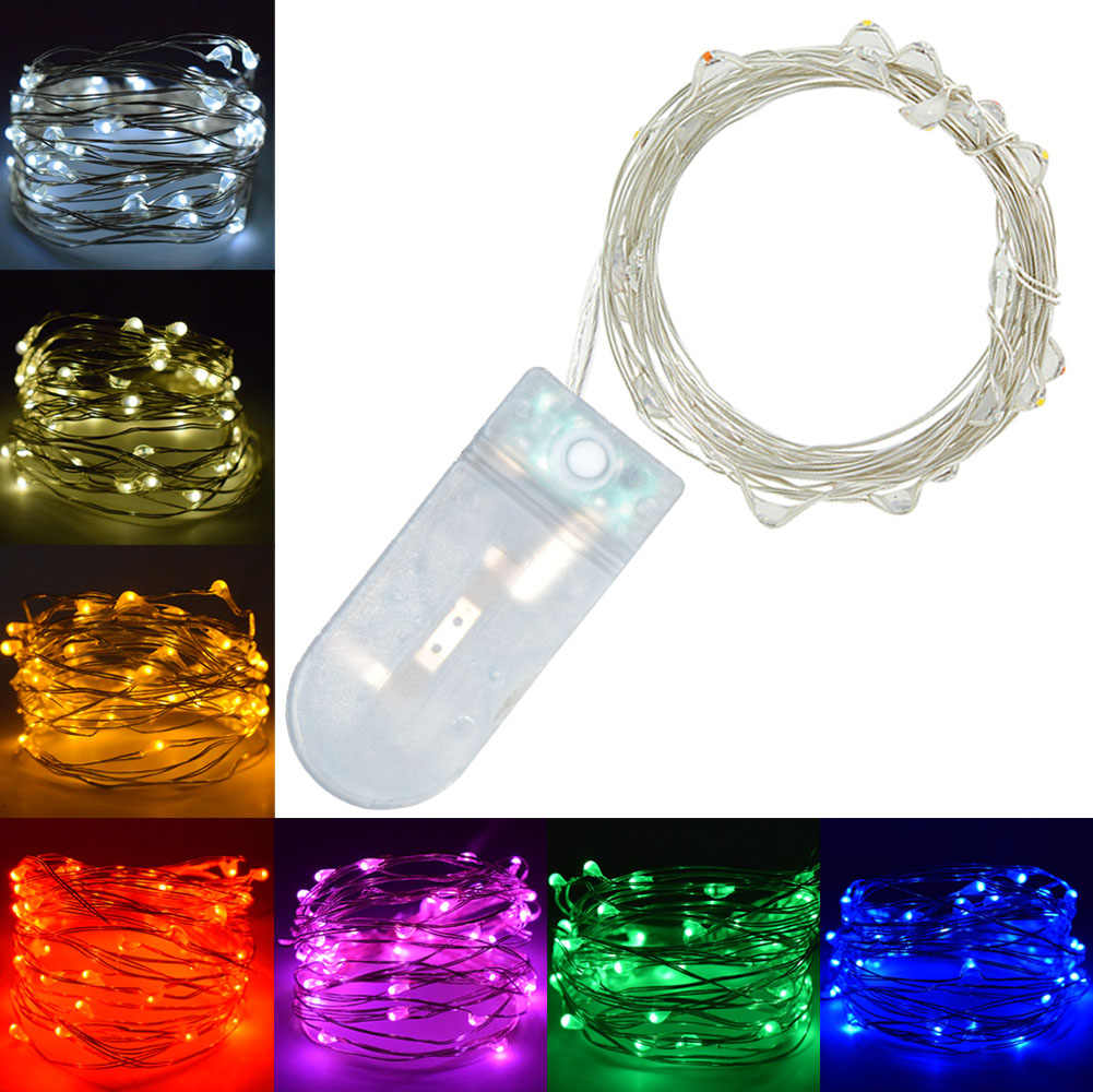 Flashing LED Wire String Lights Fairy Garland For Holiday New Year Christmas Tree Home Wedding Outdoor Decoration Cheapest
