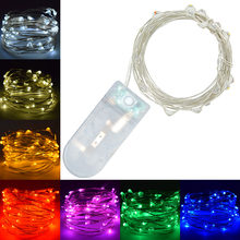 Flashing LED Wire String Lights Fairy Garland For Holiday New Year Christmas Tree Home Wedding Outdoor Decoration Cheapest(China)