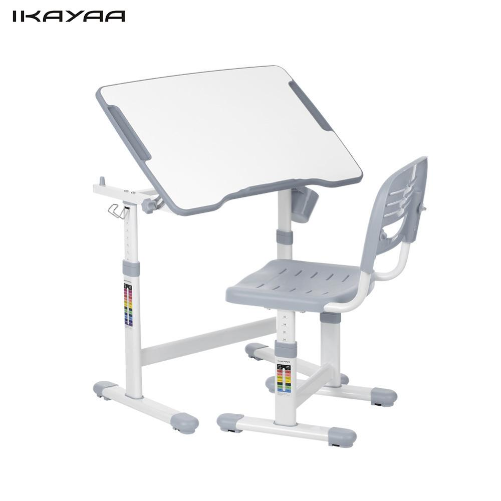 Desk And Chair Set Us 114 65 Ikayaa Height Adjustable Kid S Study Desk Chair Set Tiltable Children Activity Art Table Set Work Station Metal Frame Us Stock In