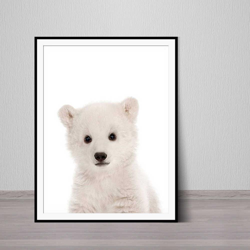 ec1284d15dcd7 Baby Polar Bear Print Bear Cub Animal Wall Art Nursery Decor Peekaboo  Printable Digital Download Large Poster Room Art Print