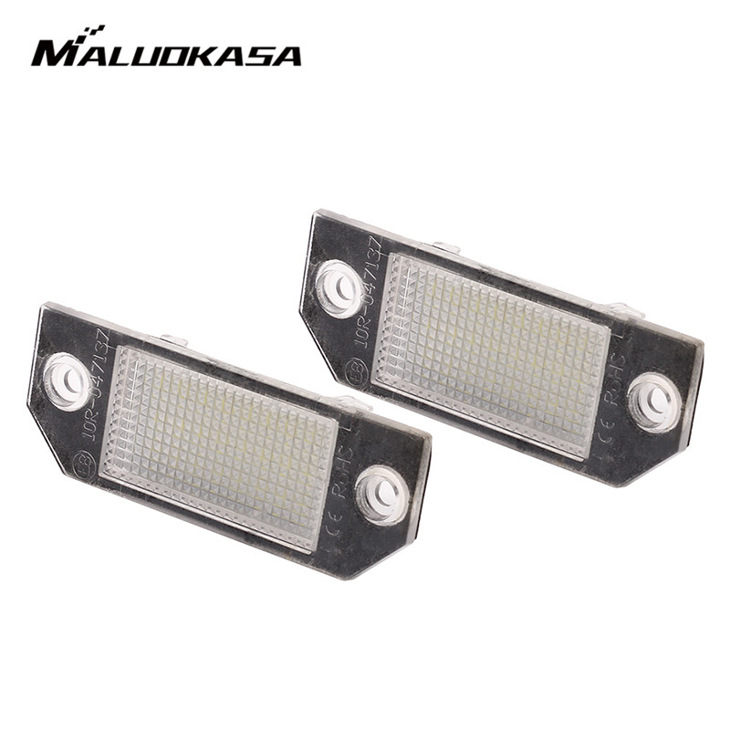 MALUOKASA 2Pcs 12V White 18 LED Number License Plate Light Lamp for Ford Focus C-MAX I 2003 2004 2005 2006 2007 MK2 2003-2008