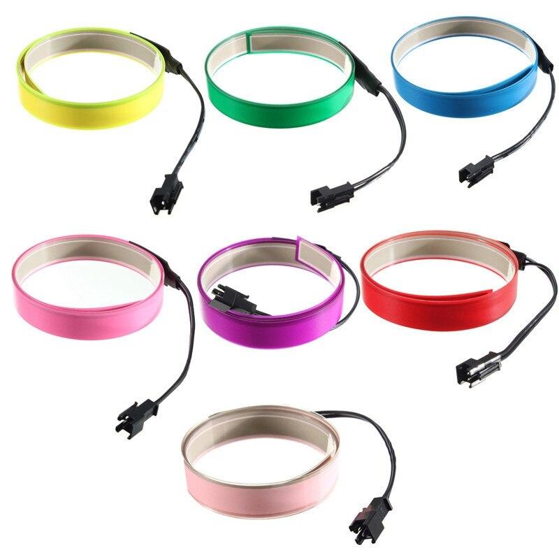 Электролюминесцентная лента Jiguoor, 1 м, 4 режима, светящаяся плоская светодиодная лента с аккумуляторной батареей AA, 3 в