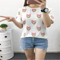 2017 new summer style fashion kawaii  donald duck printing t shirts women high quality cotton slim casual women t-shirt tops
